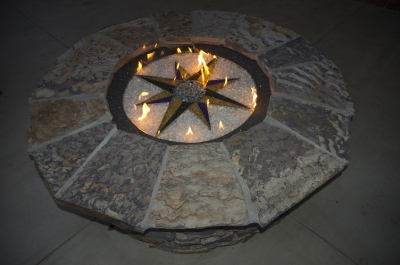 Cookie cutter fireglass fire pit design