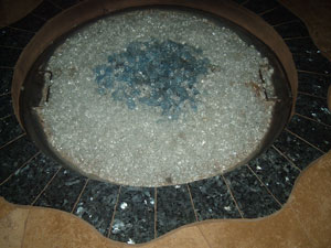 outdoor propane fire table with tile top