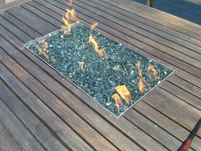 aluminum pan for fire table